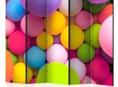 Paraván - Colourful Balls II [Room Dividers]